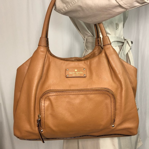 2019 original sleek best Kate Spade Leather Stevie Baxter Street Tote Bag